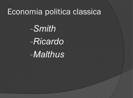 L'economia politica classica