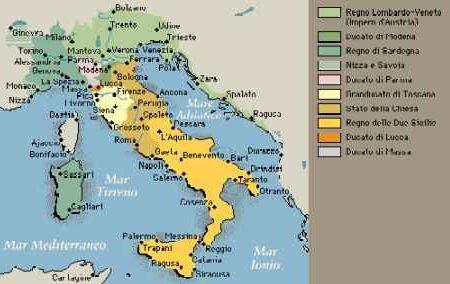 Il nuovo assetto della penisola italiana