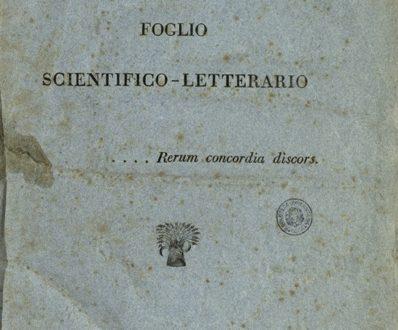 Il Conciliatore, foglio scientifico-letterario