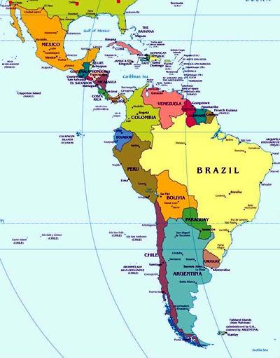 Cartina Geografica Dell America Del Sud.I Movimenti Di Liberazione Nell America Latina