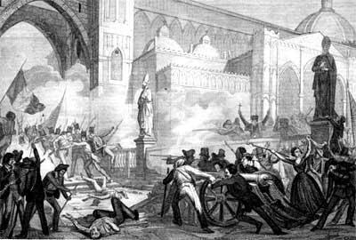 La rivoluzione si allarga al Napoletano