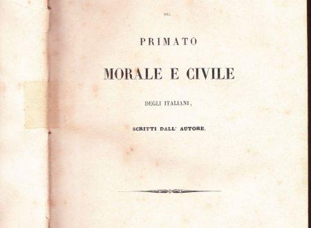 """I """"Prolegomeni del Primato"""" di Gioberti"""
