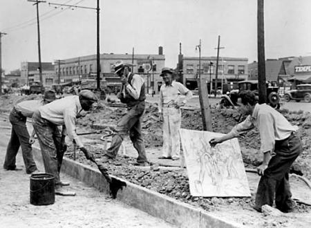 Fine della Grande Depressione negli USA: viene chiusa la WPA.